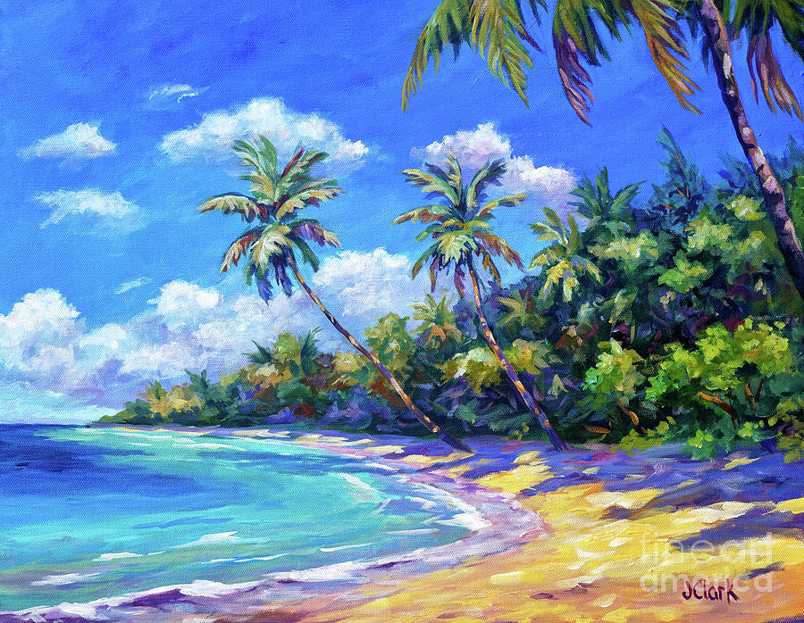 Palms In Paradise Painting