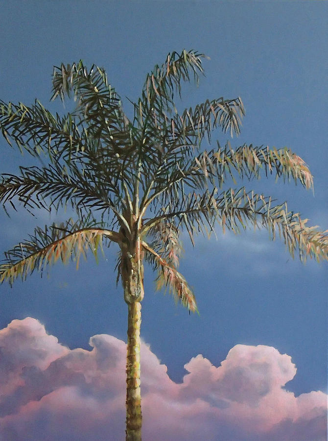 Palm Tree Painting - PalmTree at Sunrise by Philip Fleischer