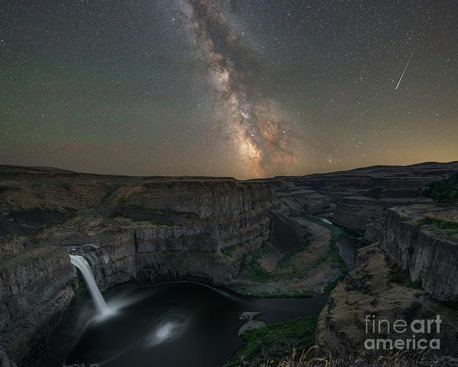 Palouse Falls Under The Stars Photograph