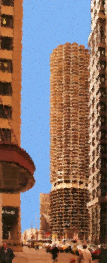 Pancakes of Chicago Mixed Media by Asbjorn Lonvig