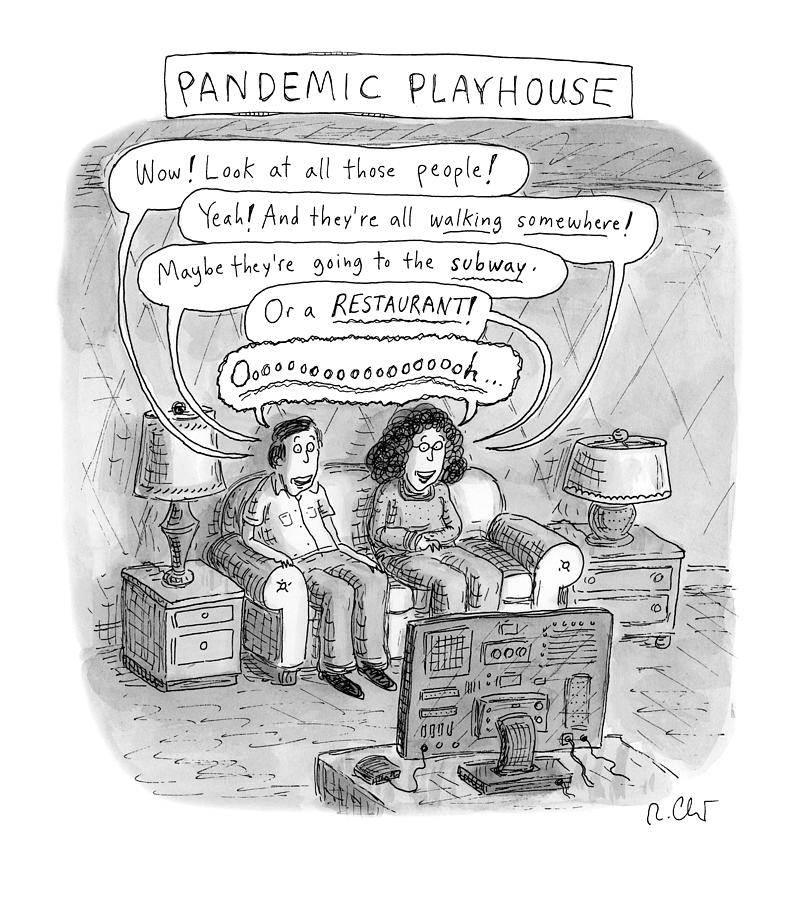 Pandemic Playhouse Drawing by Roz Chast