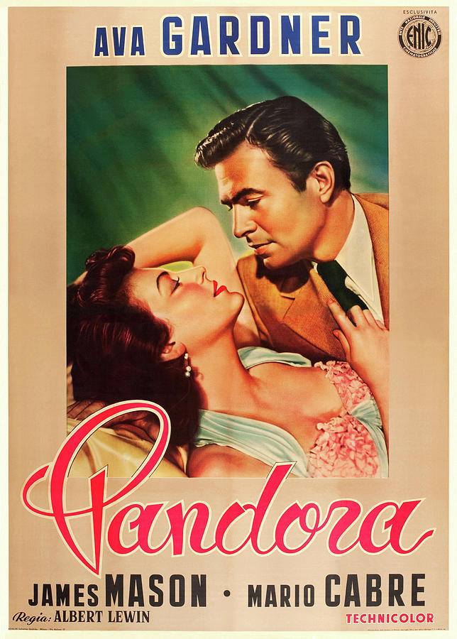 pandora And The Flying Dutchman, With James Mason And Mario Cabre, 1951 Mixed Media