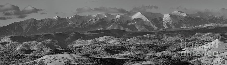 Pano Of The Beautiful Snowy Sangre De Cristo Mountains Photograph