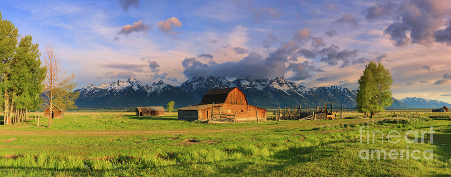 Panorama Mormon Row Barn, Grand Teton N.p Photograph