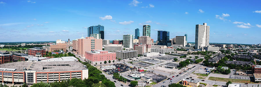 Fort Worth Photograph - Panorama Of Downtown Fort Worth, Texas by Scott Huynh