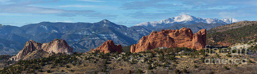 Panorama Of Garden Of The Gods Photograph