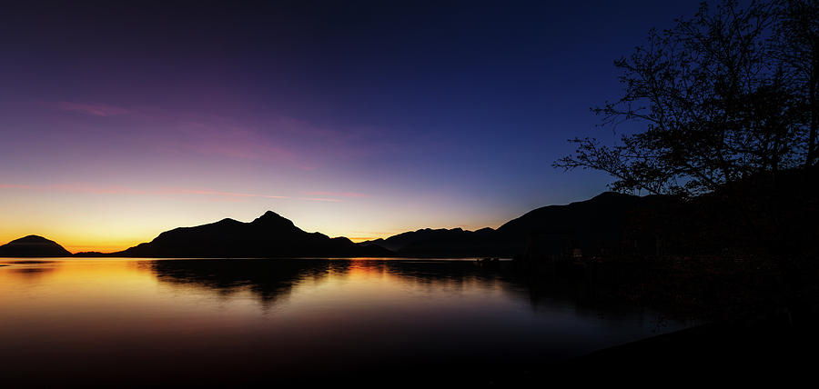 Panorama Porteau Cove Blue Hour by Monte Arnold