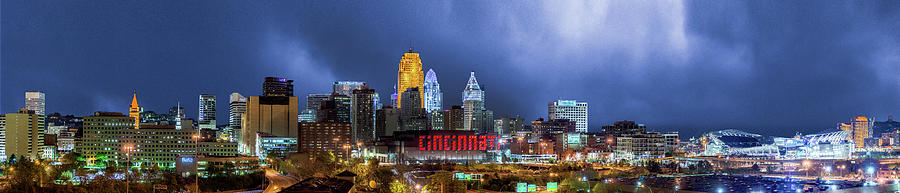 Panoramic Cincinnati Skyline  by Dave Morgan