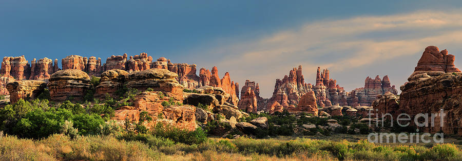 Panoramic View From Chesler Park, Canyonlands Np, Utah Photograph