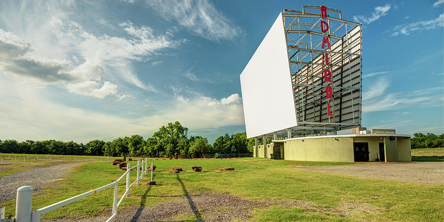 Panoramic View Of Historic Tulsa Admiral Twin Drive-in Photograph