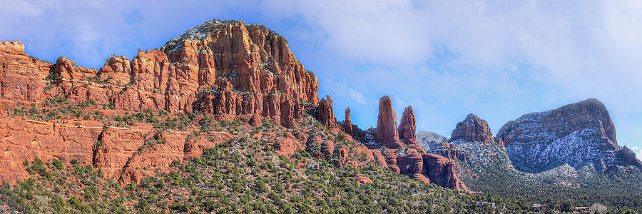 Panoramic Winter Vista - Sedona, Arizona by TL Wilson Photography by Teresa Wilson
