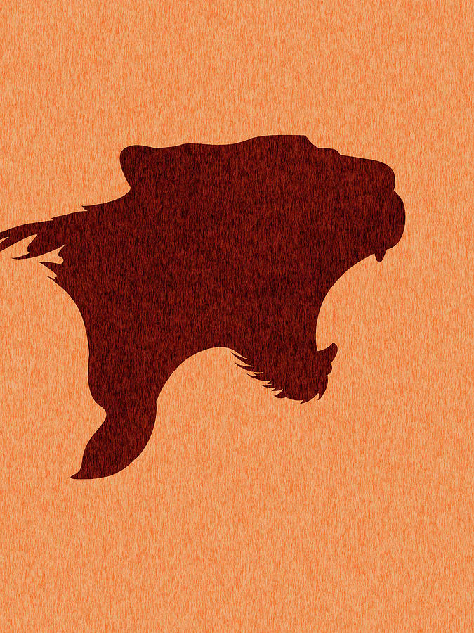 Panther Silhouette - Scandinavian Nursery Decor - Animal Friends - For Kids Room - Minimal Mixed Media