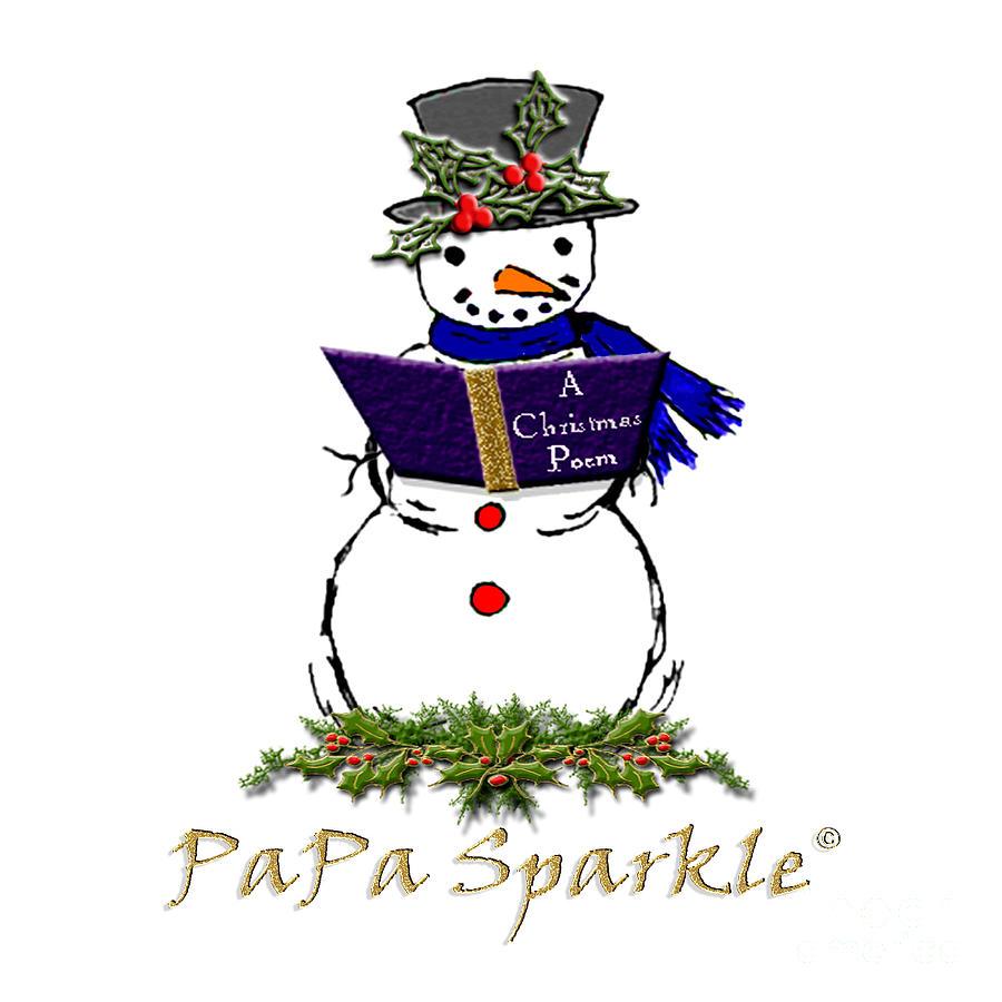 Papa Sparkles Mixed Media