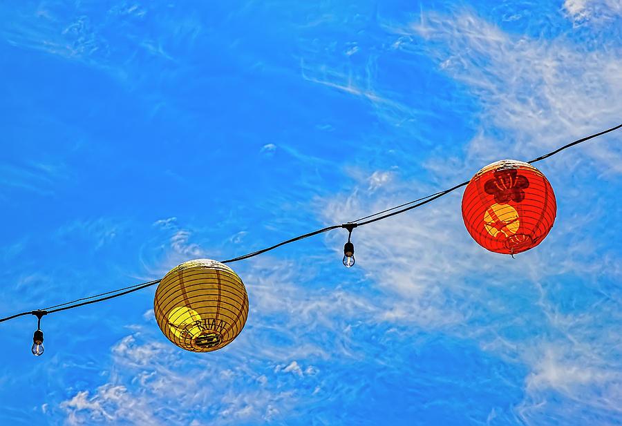 Paper Lanterns Chinatown Nyc Photograph