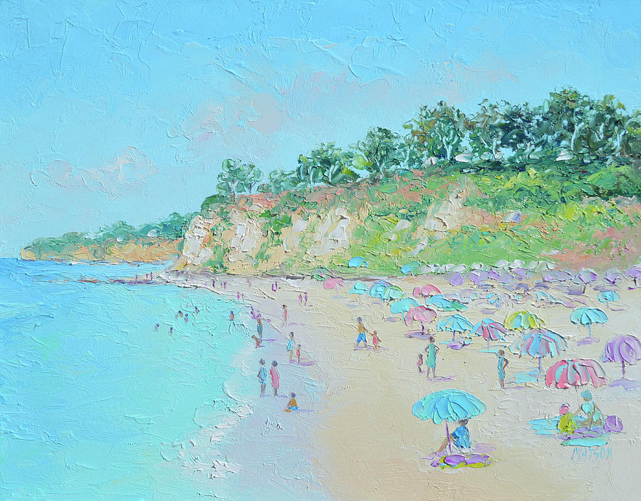 Malibu Painting - Paradise Cove Beach, Malibu, California by Jan Matson