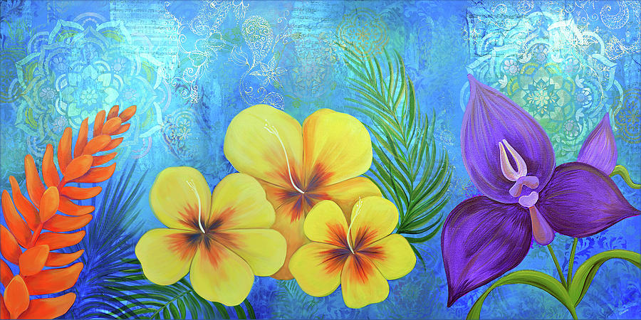 Magnolia Painting - Paradise in Bloom II by Shadia Derbyshire