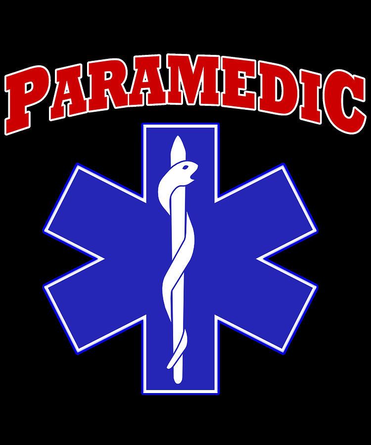 Paramedic Digital Art - Paramedic EMS Symbol by Flippin Sweet Gear