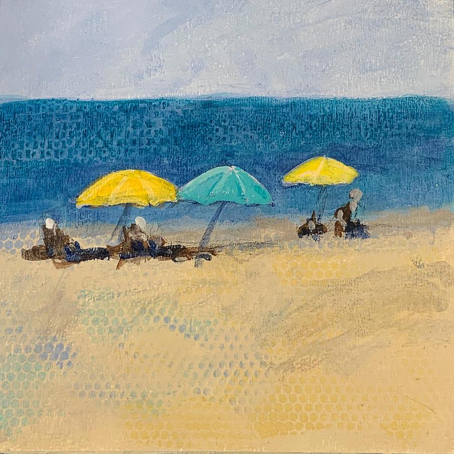 Coastal Painting - Parasols by Marion Corbin Mayer