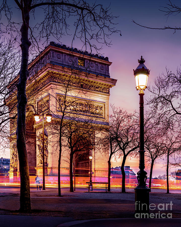 France Photograph - Paris Arc de triomphe by Thomas Speck