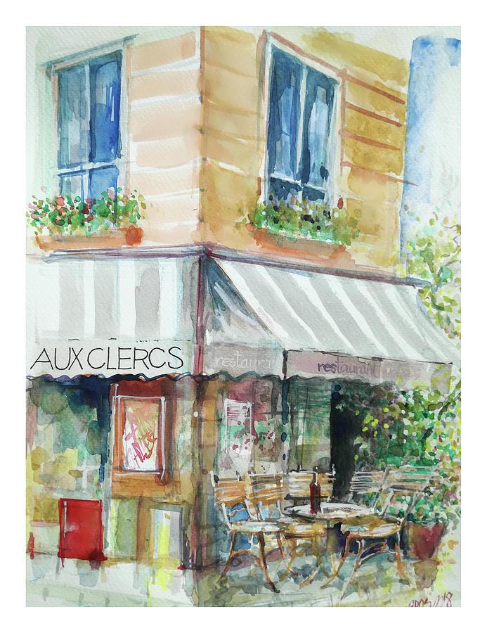 Paris, Aux Clercs Painting