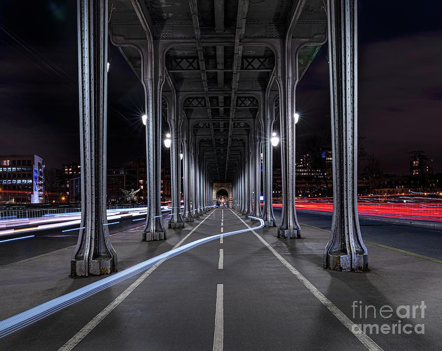 Bir Hakeim Photograph - Paris Bir Hakeim Night by Thomas Speck
