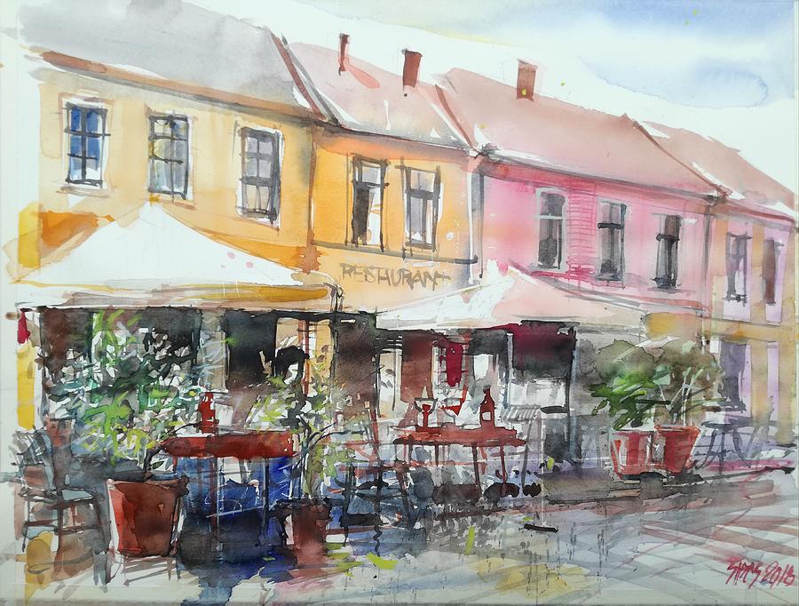 Paris Cafe Painting