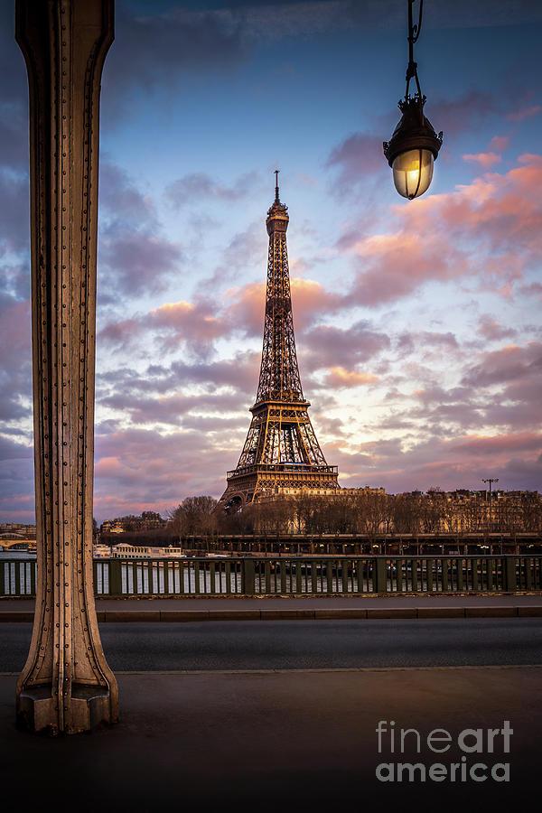 Bir Hakeim Photograph - Paris Eiffel Tower Bir Hakeim Sunset by Thomas Speck
