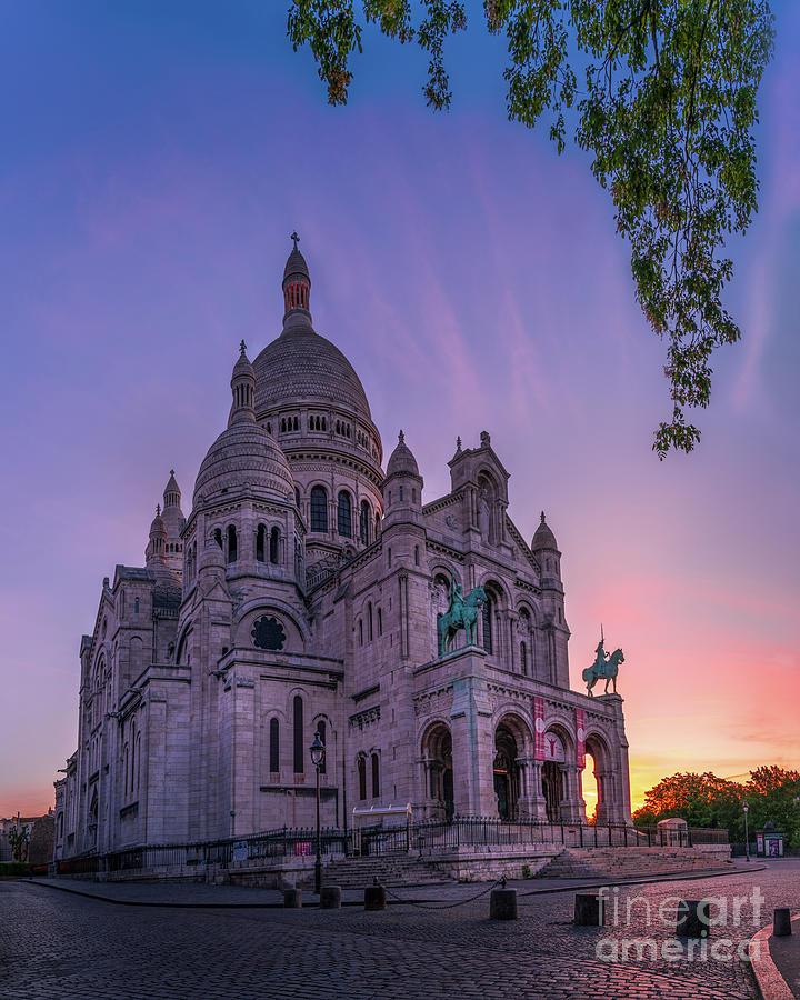 Paris Photograph - Paris Montmartre Sacre Coeur Sunrise by Thomas Speck