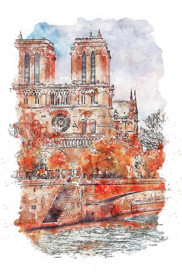 Paris Panorama - 23 by AM FineArtPrints