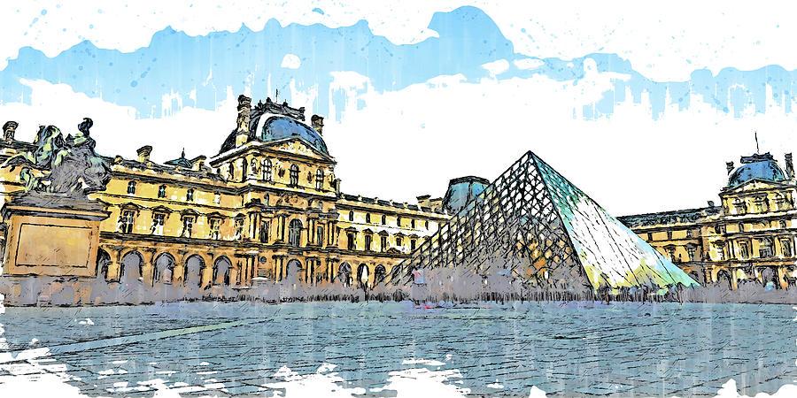 Paris Panorama - 25 by AM FineArtPrints