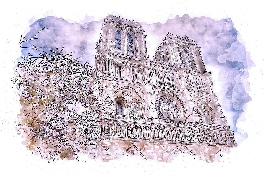 Paris Panorama - 27 by AM FineArtPrints