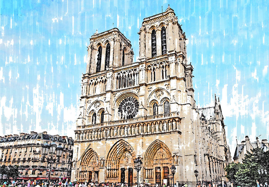 Paris Panorama - 28 by AM FineArtPrints