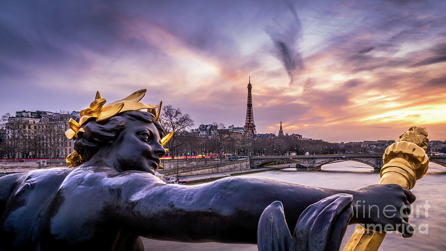 France Photograph - Paris Pont Alexandre trois Eiffel tower by Thomas Speck