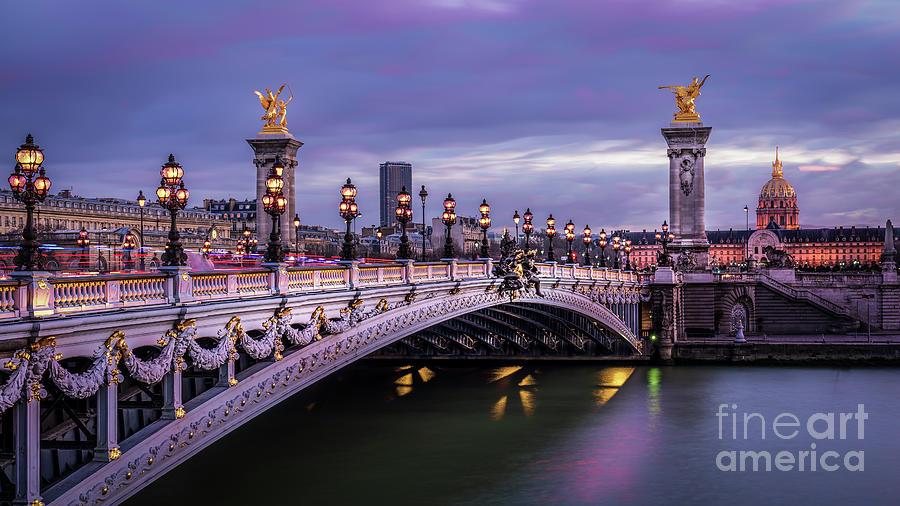 France Photograph - Paris Pont Alexandre trois Invalides by Thomas Speck