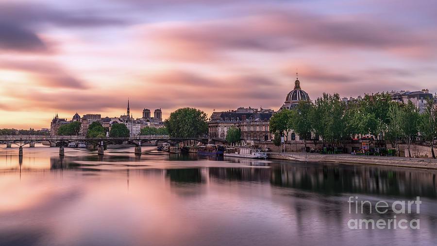 Paris Photograph - Paris Pont des Arts Seine River Institut de France by Thomas Speck