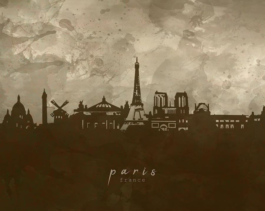 Paris Skyline Panorama 4 Digital Art
