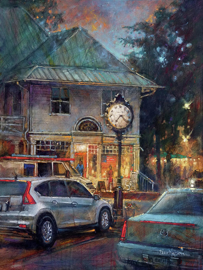 Parking In Pinehurst Painting