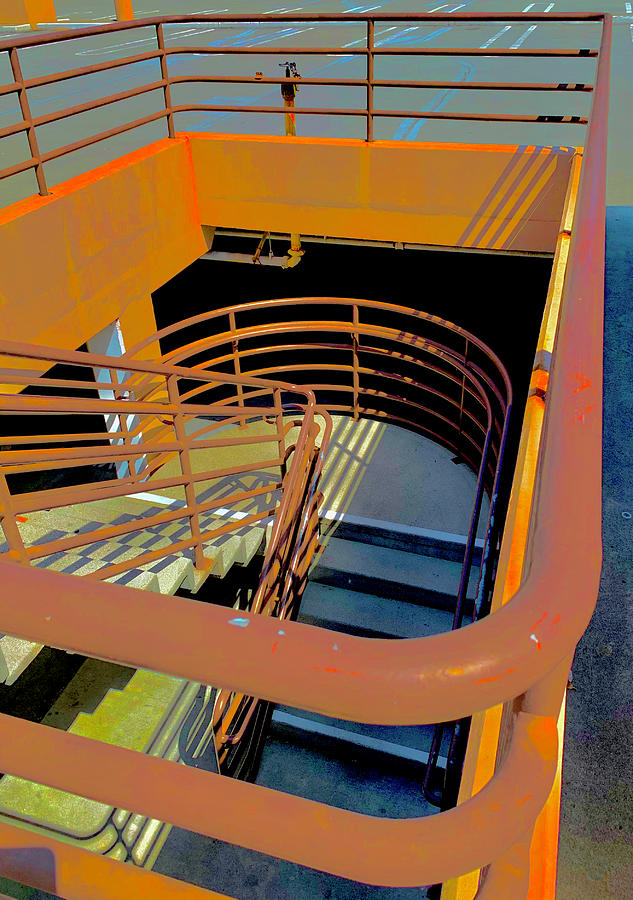 Parking Lot Stairs Photograph