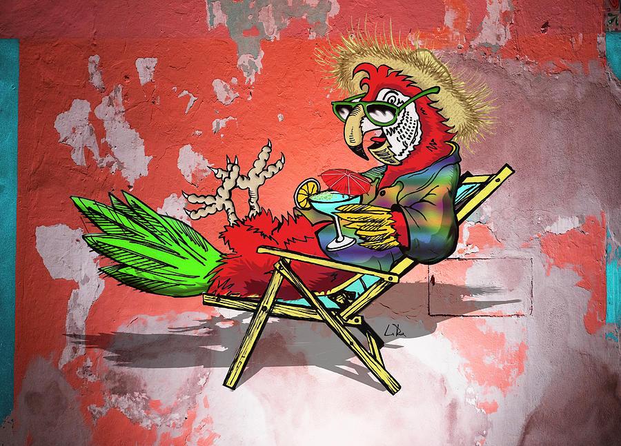 Parrot Beach Chair Drawing