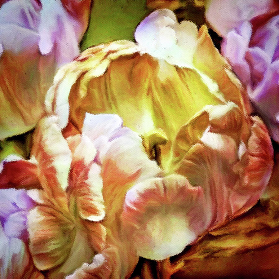 Parrot Tulips Digital Art