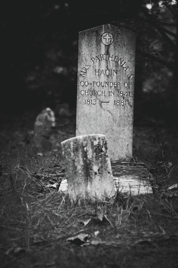 Cemetery Photograph - Parthenia by Kamie Stephen