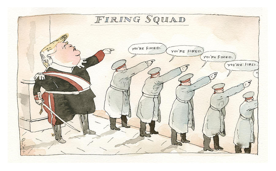 Parting Shots at our Dear Former President Part Two Painting by Barry Blitt