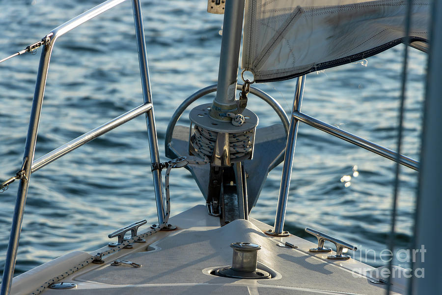 Parts Of A Sailboat 10 Photograph