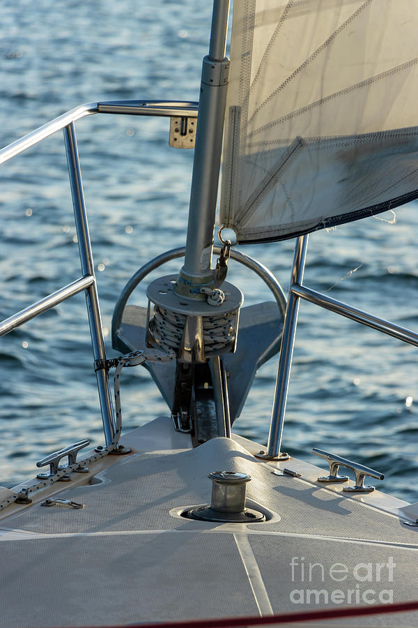 Parts Of A Sailboat 11 Photograph