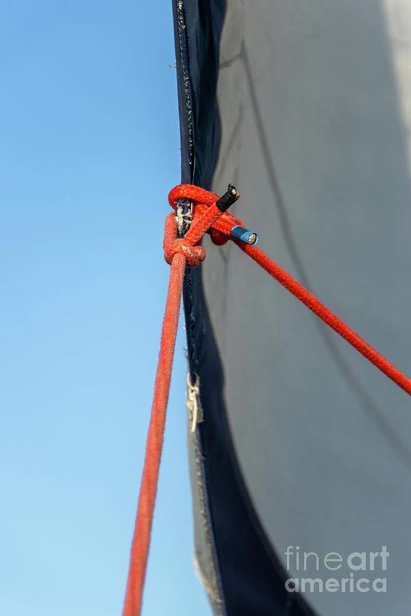 Parts Of A Sailboat 9 Photograph