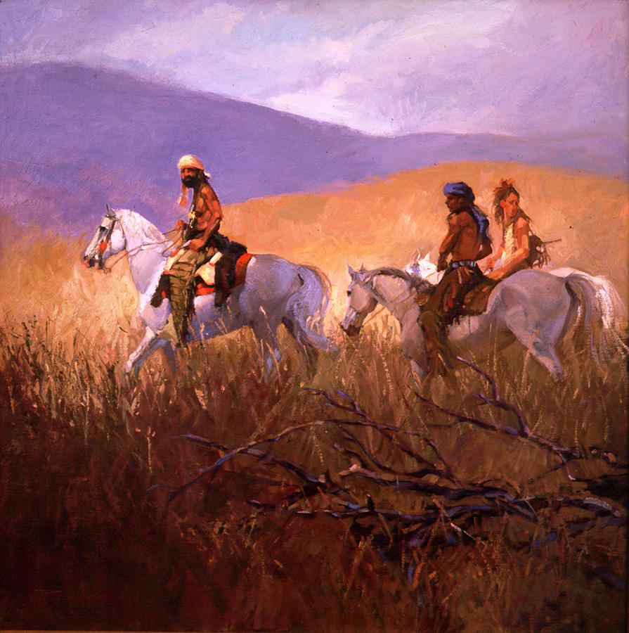 Mountain Men Painting - Passages by Betty Jean Billups