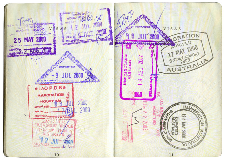 Passport Stamps-2 Photograph by Scottespie