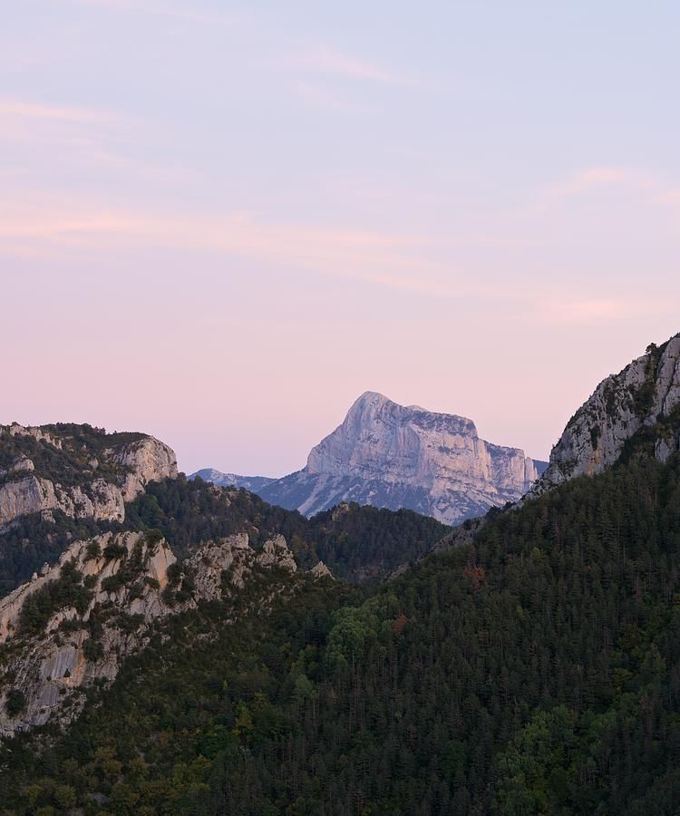 Pastel Pink Skies over Pena Montanesa by Stephen Taylor