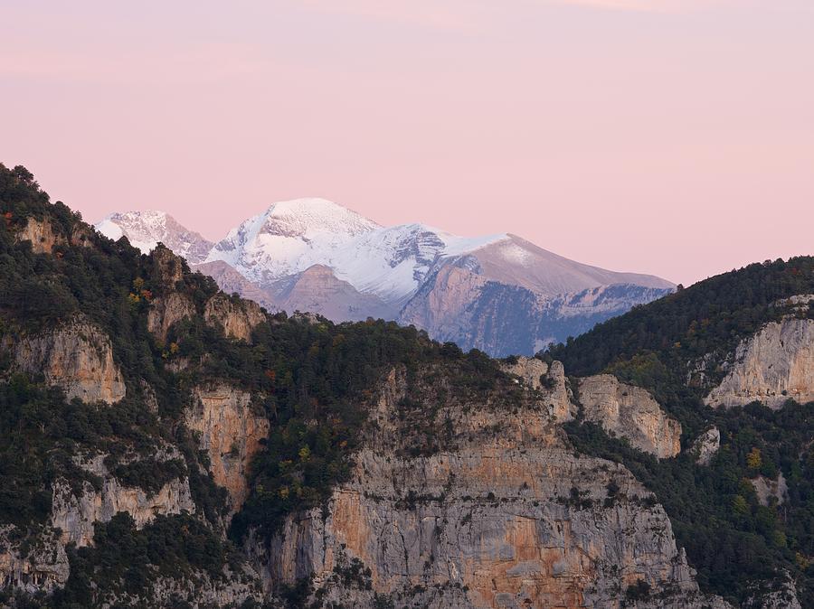 Pastel Pink skies over the Chistau Peaks by Stephen Taylor