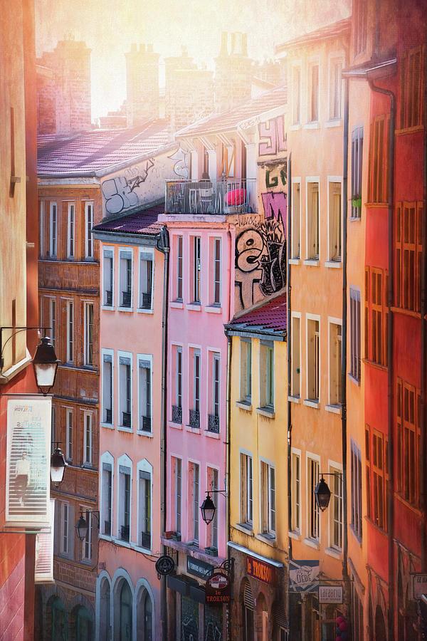 Pastel Shades Of Old Lyon France Photograph